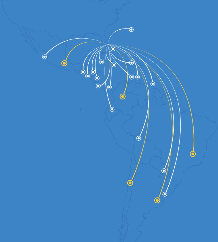 Latin America Delivery Locations