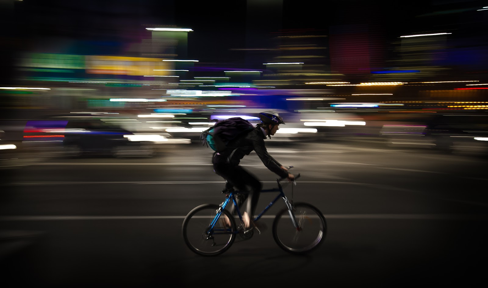 "Bicycle couriers can deliver packages in crowded urban areas quickly. - <a href=""https://pixabay.com/en/courier-night-panning-warsaw-1214227/"">image source</a>"